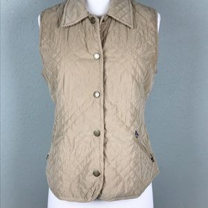 Faconnable Quilted Puffer Snap Front Vest